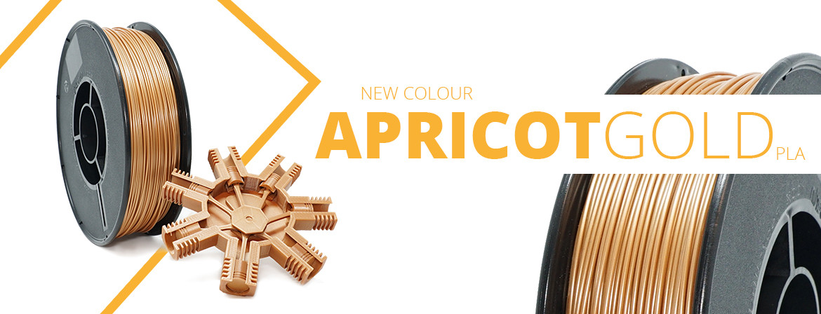 New colour pla apricot gold